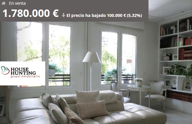 comprar vender casa barrio de Salamanca calle Goya
